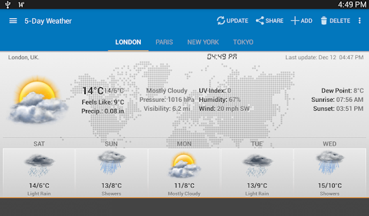 Wetter & Uhr-Widget - Android Screenshot