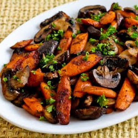 Roasted Carrots and Mushrooms with Thyme (Gluten-Free, Vegan, Paleo)