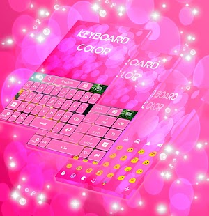 Color Keyboard Pink - screenshot