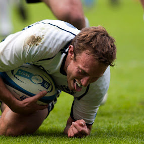 Mike Blair Try by Tommy  Cochrane - Sports & Fitness Rugby ( scotland, edinburgh, murryfield, test, mike blair, emc, rugby )