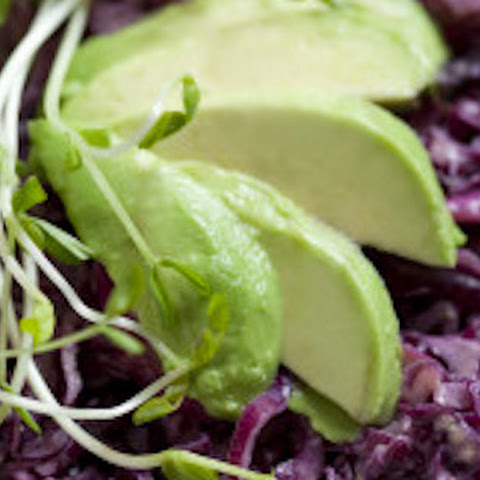 Raw Purple Cabbage Slaw