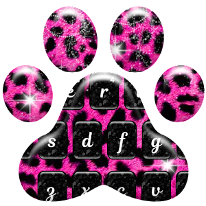 Pink and Black Cheetah Fur Keyboard Theme For PC
