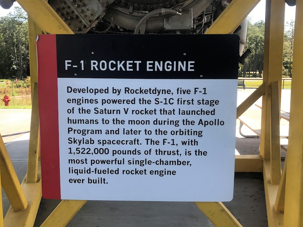 Developed by Rocketdyne, five F-1 engines powered the S-1C first stage of the Saturn V rocket that launched humans to the moon during the Apollo Program and later to the orbiting Skylab spacecraft. ...