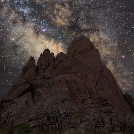 Garden of the Gods Under the Stars by Andy Taber - Digital Art Places