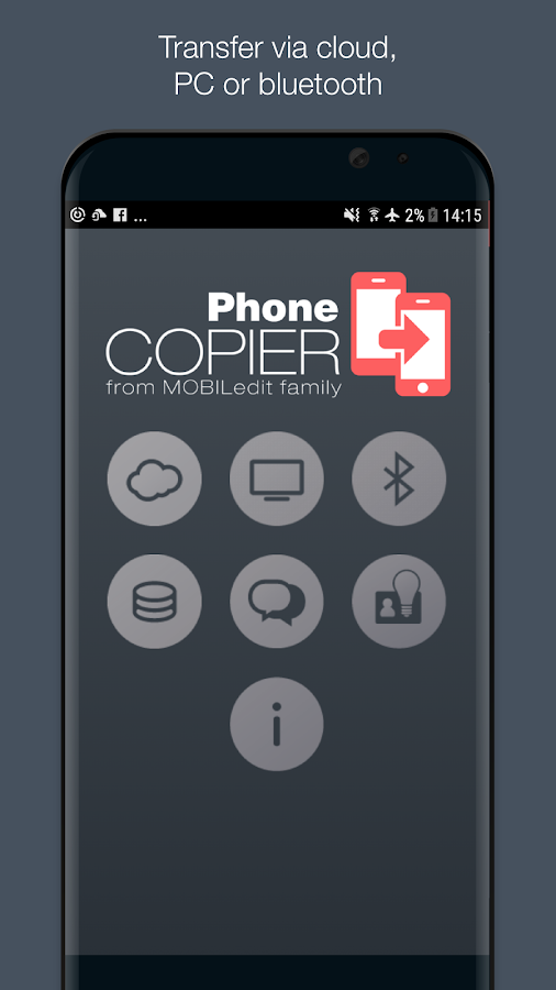 Phone Copier - MOBILedit Screenshot