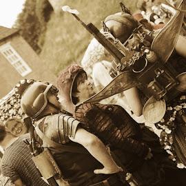 steampunk by Kathleen Devai - People Street & Candids ( sepia, street, lincolnasylum, steampunk, people )