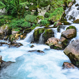 Canyon Mrtvica by Bojan Kuburovic - Landscapes Travel ( water, montenegro, water drops, nature, waterscape, magical, green, stone, canyon, forest, stones )