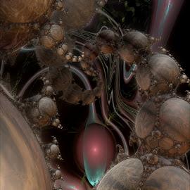 Exotic Worlds by Rick Eskridge - Illustration Sci Fi & Fantasy ( fantasy, jwildfire, mb3d, fractal, twisted brush )