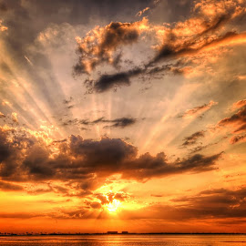 View from Scottish Towers. Dunedin, Florida. by Edward Allen - Landscapes Cloud Formations (  )