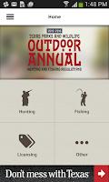 Screenshot of Texas Outdoor Annual