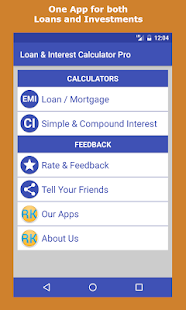 Loan & Interest Calculator Pro screenshot for Android