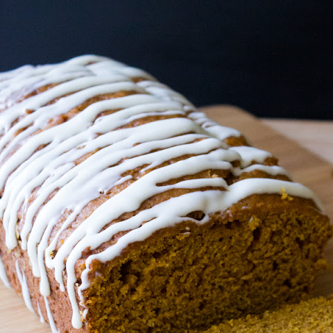 Pumpkin Bread with Cream Cheese Glaze