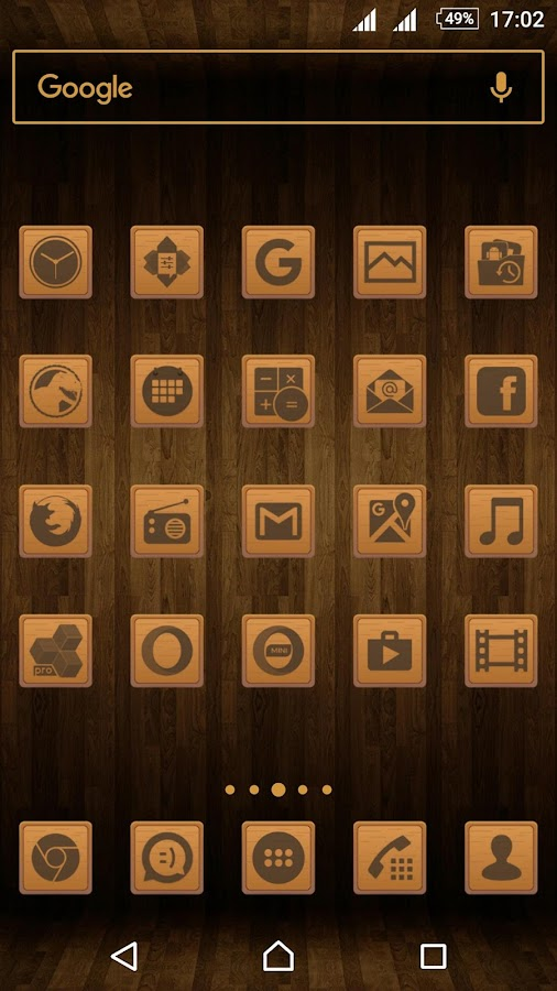 Wooden Icons Brown Screenshot 0