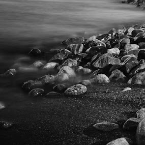Rocks Galore by Elvis Dorencec - Nature Up Close Rock & Stone ( fifty point conservation area, b&w, long exposure, rocks )