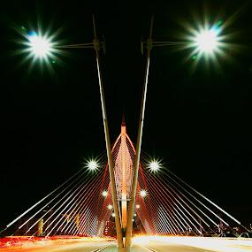 seri wawasan bridge II by Mohd Shahrizan Taib - Buildings & Architecture Bridges & Suspended Structures ( car, e30, zuiko lens, long exposure, bridge, road, tripod, light )