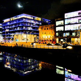 Colour by Jimmy Fitz - Buildings & Architecture Architectural Detail ( colour, water, ireland, dublin, buildings, reflections )