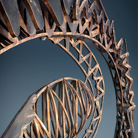 Spin by Jon Kinney - Buildings & Architecture Statues & Monuments ( sclupture, sprial galaxy, chicago )