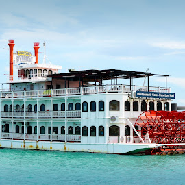 Riverboat Restaurant by Alan Chew - Transportation Boats