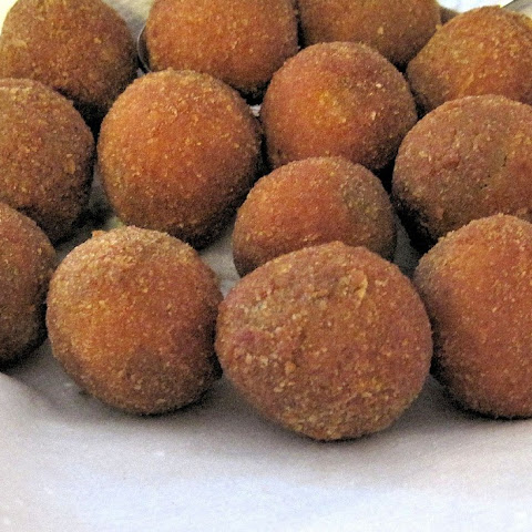 Chorizo Stuffed Fried Olives
