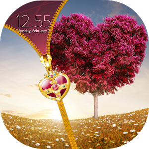 Love Tree Zipper Lock Screen