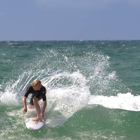 Surfing by Denis Sinoussi - Sports & Fitness Surfing ( skyline, surfing, waves, beach, surf )