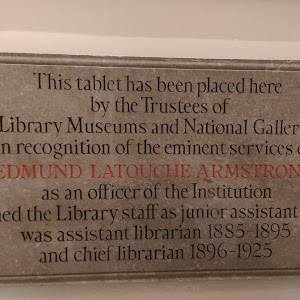 This tablet is in the State Library of Victoria, located on Swanston Str. It reads: This table has been placed here by the Trustees of The Public Library Museums and National Gallery of Victoria in ...