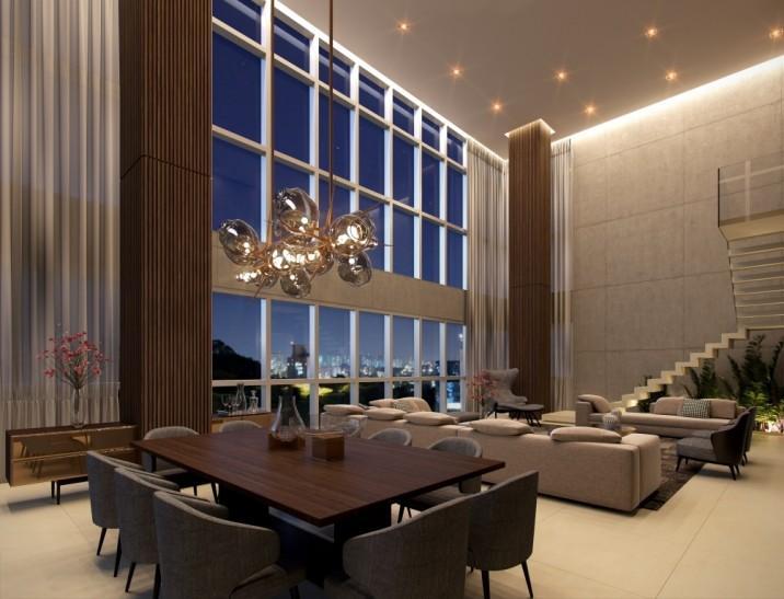 Perspectiva do Living Duplex - 369 m²