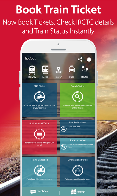 Trains Metro Cabs Nearby Hotfoot Android Apps On