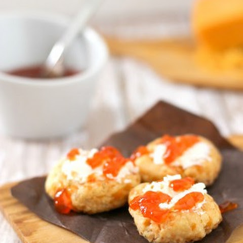 Spicy Cheese Thumbprints with Goat Cheese and Hot Pepper Jelly
