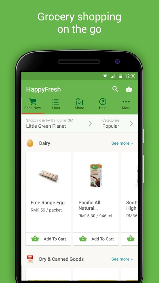 HappyFresh - Grocery Delivery Screenshot 2