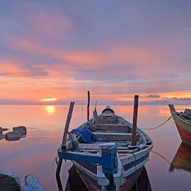 Perahu nelayan by AbngFaisal Ami - Transportation Boats