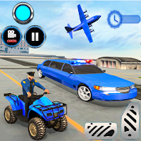 US Police limousine Car Quad Bike Transporter Game on PC / Windows 7.8.10 & MAC