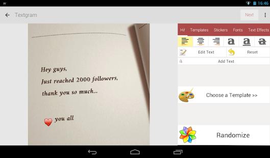 Textgram - write on photos- screenshot thumbnail