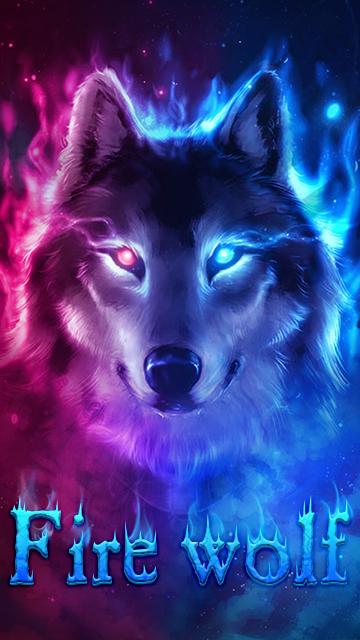 Fire Wolf Theme Ice Wallpaper HD APK