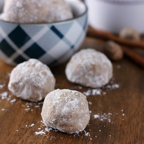 Spiced Eggnog Snowball Cookies