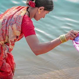 India by Andreja Novak - People Street & Candids ( water, work, india, travel, people )