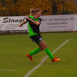 Girls Soccer in Schweiggers in Austria by Franz  Adolf - Sports & Fitness Soccer/Association football ( sport, fußball, soccer )