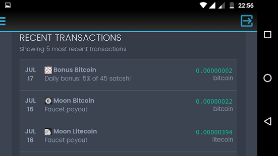 Bitcoin - Instant Faucets Coinpot screenshot for Android