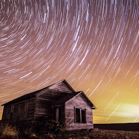 The Test of Time by Eric Anderson - Landscapes Starscapes ( canon, time, school, test, 60d, house, space, astronomy, abandoned )