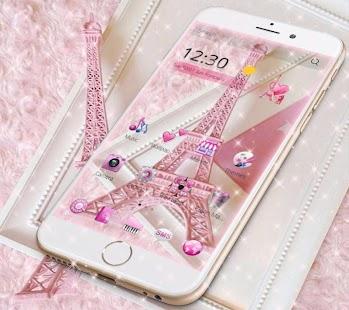 APK App Pink Theme Eiffel Tower Love for BB, BlackBerry