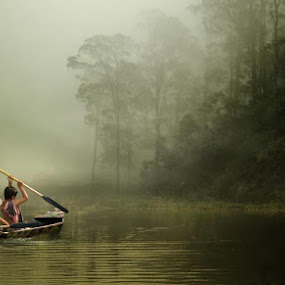 friendship by Budi Cc-line - People Fine Art ( fog., art, children, waterspace, people )
