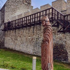 04. Polskie Carcassonne (Szydłów) by Marek Rosiński - Buildings & Architecture Public & Historical ( figure, walls, defensive walls, wooden figure, fortifications )