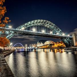 Autumn Tyne by Adam Lang - Buildings & Architecture Bridges & Suspended Structures ( autumn, tyne, tyne bridge, bridge, river )