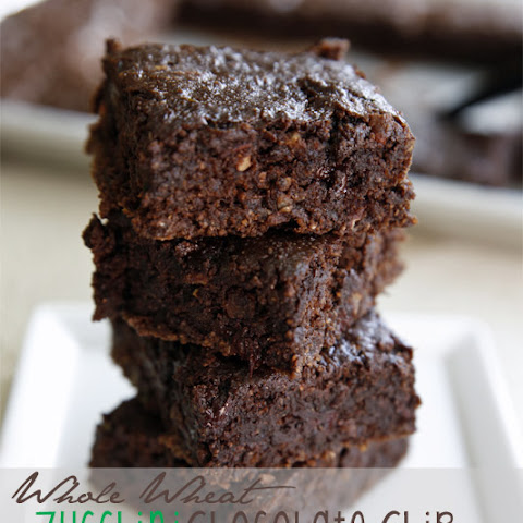 Whole Wheat Zucchini Chocolate Chip Brownies