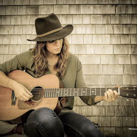 Monica Rizzio by Mark Wirzburger - People Musicians & Entertainers ( monica rizzio, lightroom presets, singer-songwriter, capecawder, guitar, onone perfect effects, folk music, country )