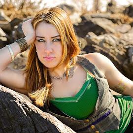 Green Arrow by Lee Morest - People Portraits of Women ( hero, woman, beautiful, redhead, portrait )