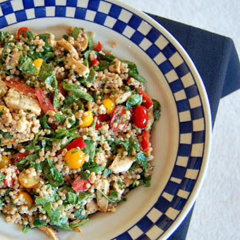 Summer Israeli Couscous Chicken Salad