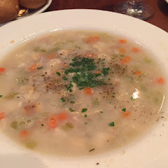 Light clam chowder soup, delicious