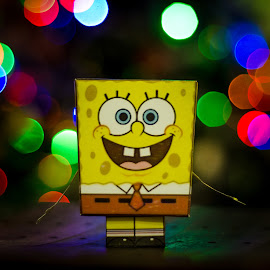 Mr Spongebob Origami by Papin Michael - Artistic Objects Other Objects ( colourful, spongebob, cartoon, indoor, lamp, artistic, origami, object, light )