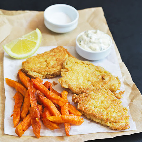 Healthy Fish and Chips with Sweet Potato Fries